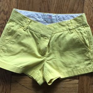 J crew broken in chino shorts sz 4 yellow